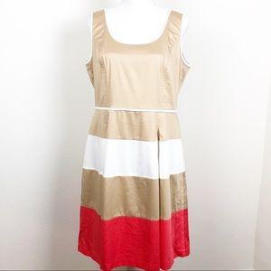 Nine West Striped Stretch Dress